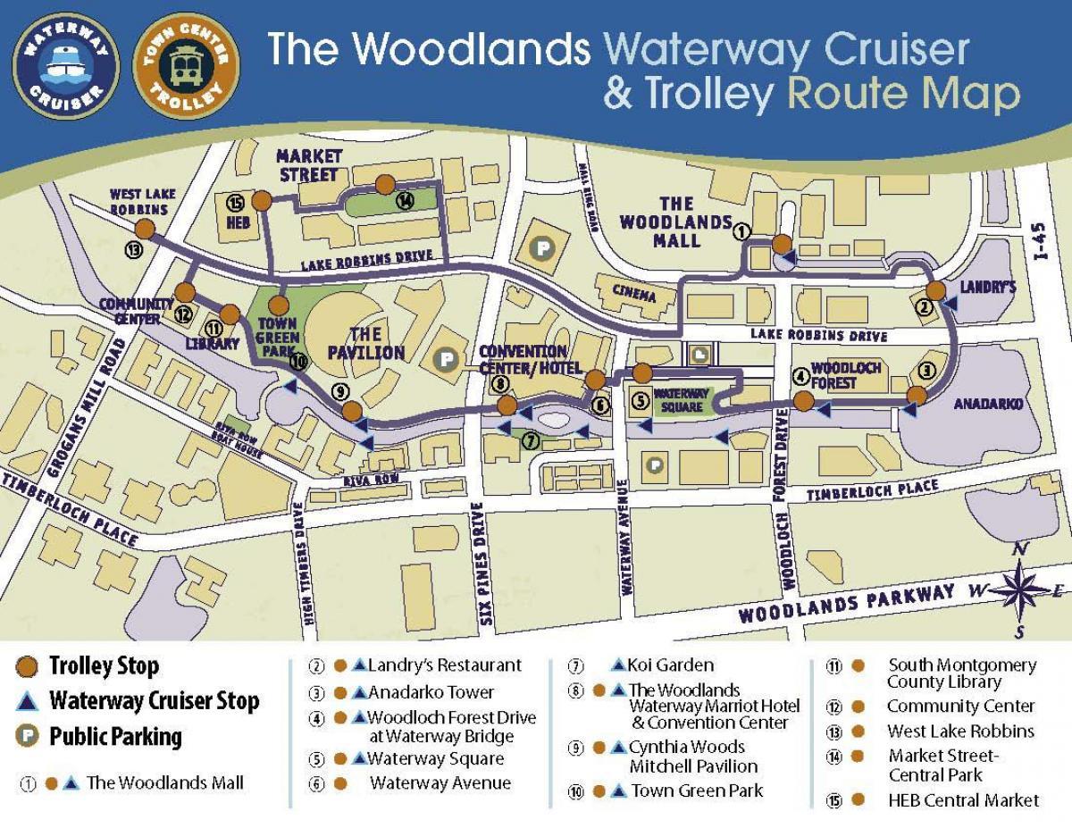 Woodlands Mall Map Woodlands mall map   The Woodlands mall peta (Texas   USA) Woodlands Mall Map